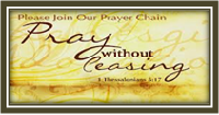To have the prayer chain activated Submit your prayer here or use the prayer chain email at prayerrequest@gpcarlington.org.    The requests are directly linked to our prayer chain team leader.